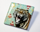 Tiger Roar Brooch