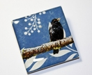 Black Bird on Blue Brooch