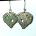 Kawakawa leaf earrings in copper - 20mm