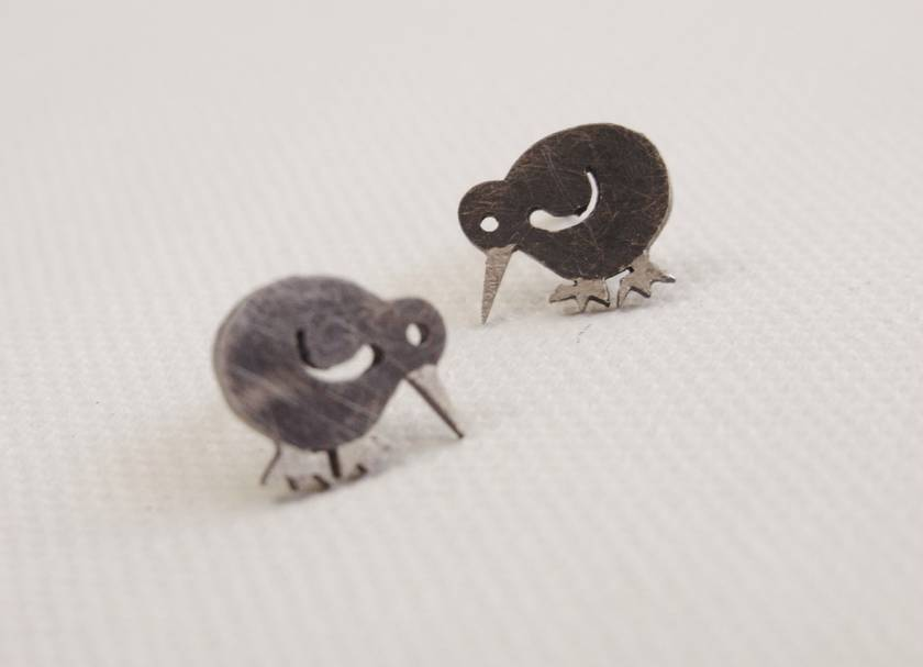Native New Zealand Kiwi Stud Earrings
