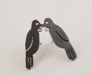 Native New Zealand Tui Stud Earrings