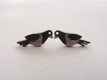 Native New Zealand Kereru (wood pigeon) Stud Earrings