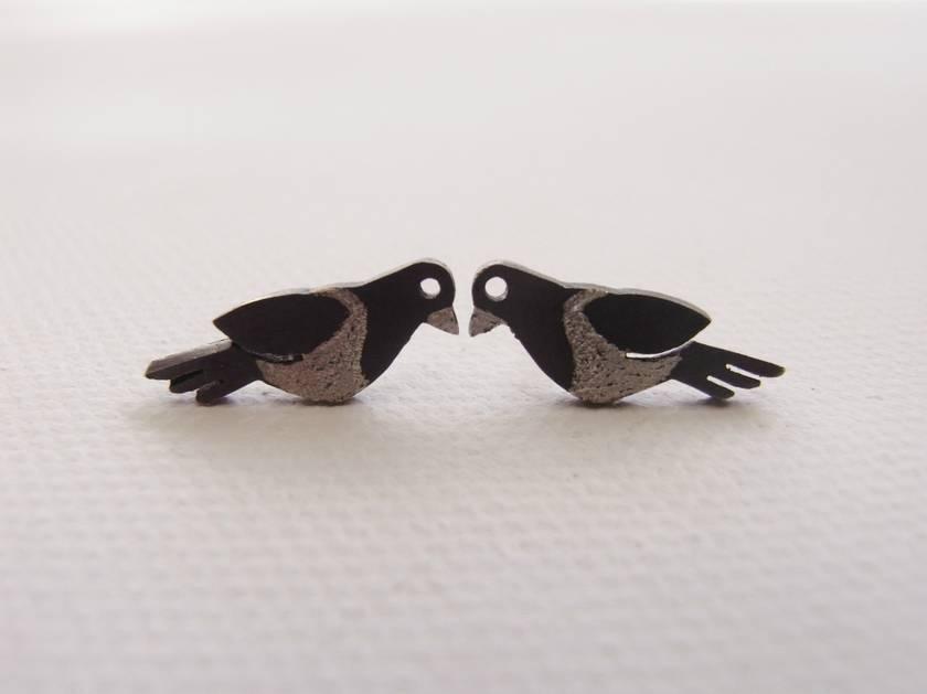Native New Zealand Kereru (wood pigeon) Stud Earrings