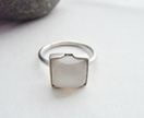 Silver Ring with Square Moonstone