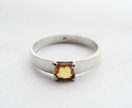 Simple Band Ring with Yellow Sapphire.