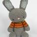 Gray Amigurumi Crochet Bunny