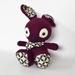 Aubergine Coloured Amigurumi Bunny Rabbit with Neckerchief