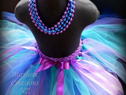 Mayhem Creations NZ Waterfall fairy tutu skirt