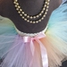 NB-2yrs Pastel Rainbow Tutu skirt by Mayhem Creations