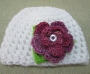 NEWBORN BABY HAT WITH REMOVABLE BROOCH