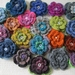 HANDCROCHETED FLOWER BROOCHES