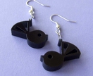 Black Fantail Earrings