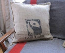 Large Coffee Bean Sacking Cushion