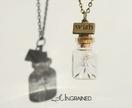Rainbow Dandelion Wish Bottle Necklace
