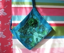 Turquoise and Green Bag