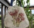 Stunning Embroidered Protea Shoulder Bag