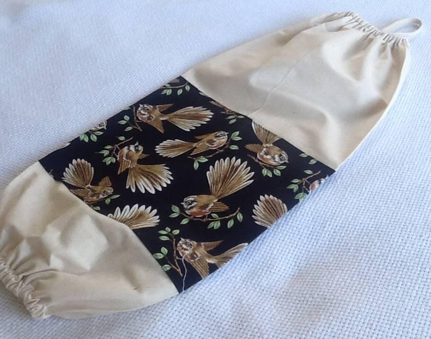 Plastic Bag Holder  -  STUNNING FANTAIL TRIM