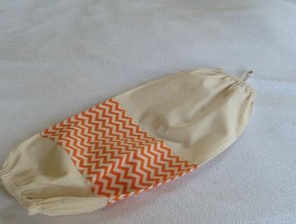 Plastic Bag Holder -  Gorgeous Summer Orange Chevron Trim