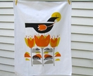Autumn Crocus....hand printed Tea Towel