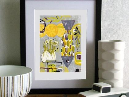 Fish & Fennel A4 Print