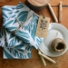 Two Teal Tui   limited edition hand screen printed Tea Towel