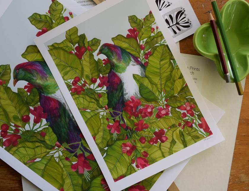 Pururi + Kereru Print