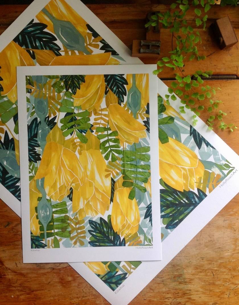 Kowhai  A4 Giclee Print