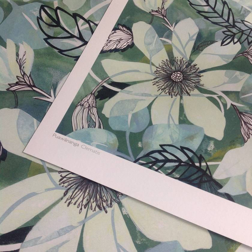 Clematis A4 Giclee Print
