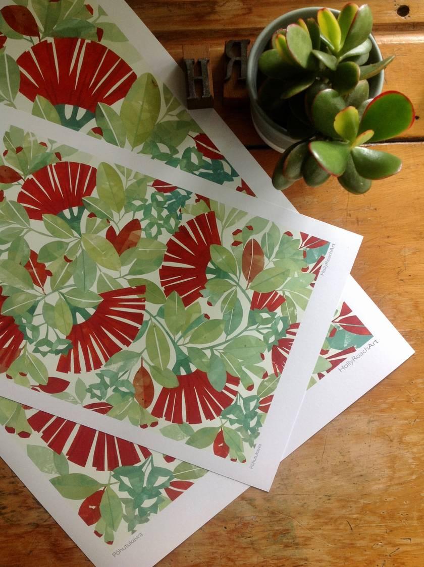 Pohutukawa  A4 Giclee Print
