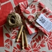 Festive Tui Unbleached Tea Towel...hand screen printed towel