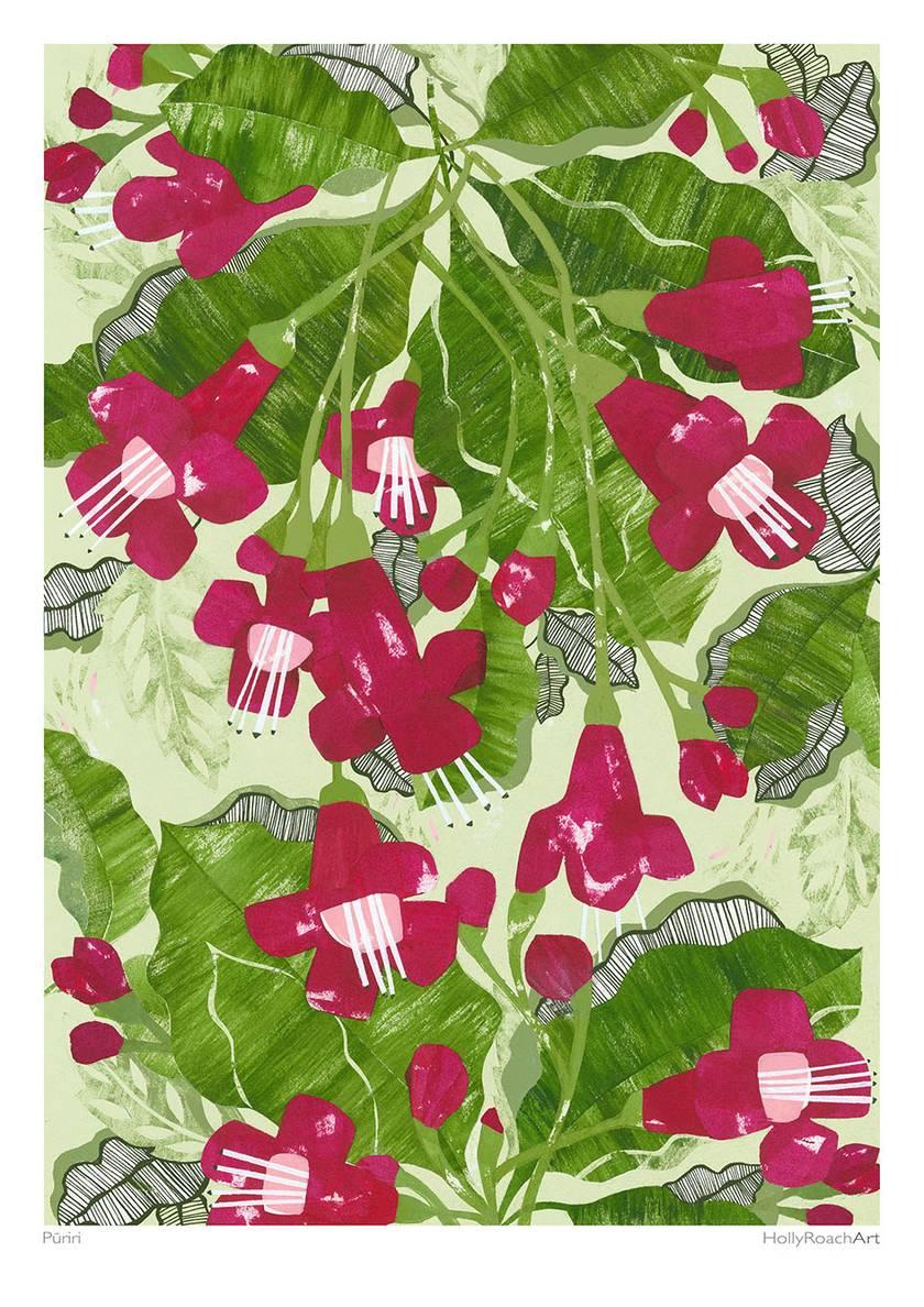 Puriri  A4 Giclee Print