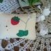 Vintage Wool - Strawberry Pincushion