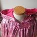 Printed Velvet Hooded Cape - Pink