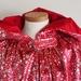 Printed Velvet Hooded Cape - Red