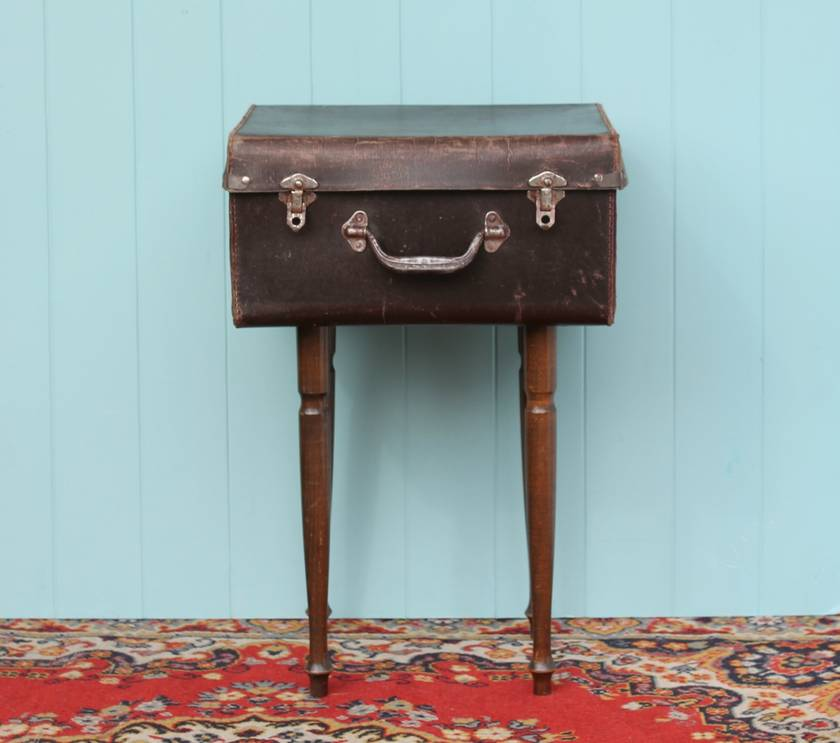Cute Little Suitcase Side Table