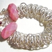 Sterling Silver and Rhodonite Chainmaille Bracelet
