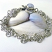 Byz Cross Chainmaille Bracelet with Moonstone