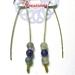 Flourite V Style Earrings