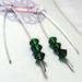 Emerald Swarovski Crystal V Style Earrings