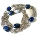 Trizantine Blues Sterling Silver Chainmaille Necklace