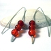 Carnelian V Style Earrings