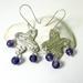 Fine Silver Vine and Amethyst Earrings