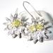 Fine Silver Sunburst Earrings