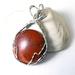 Red Poppy Jasper and Sterling Pendant