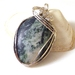 Tree Agate and Sterling Silver Pendant