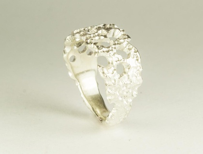 Rock pool ring in sterling silver