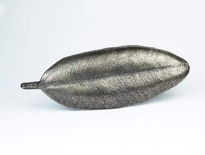 Bronze Pohutukawa Leaf Brooch