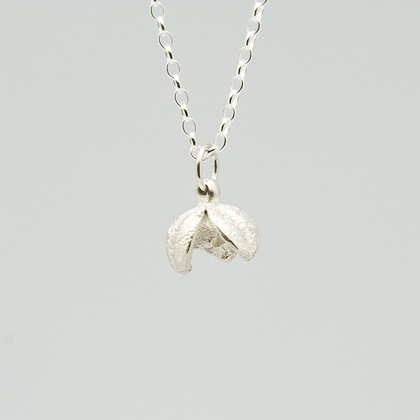 Pittosporum seed pod necklace- sterling silver