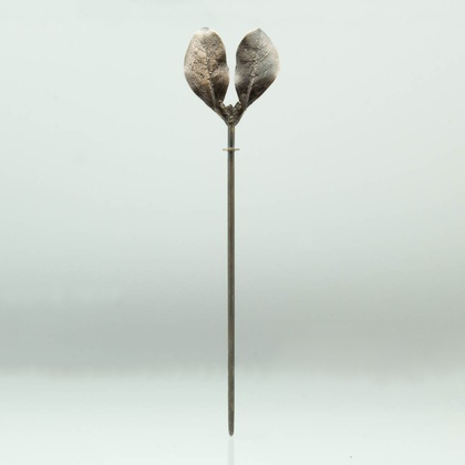 Karamu double leaf bronze hair stick