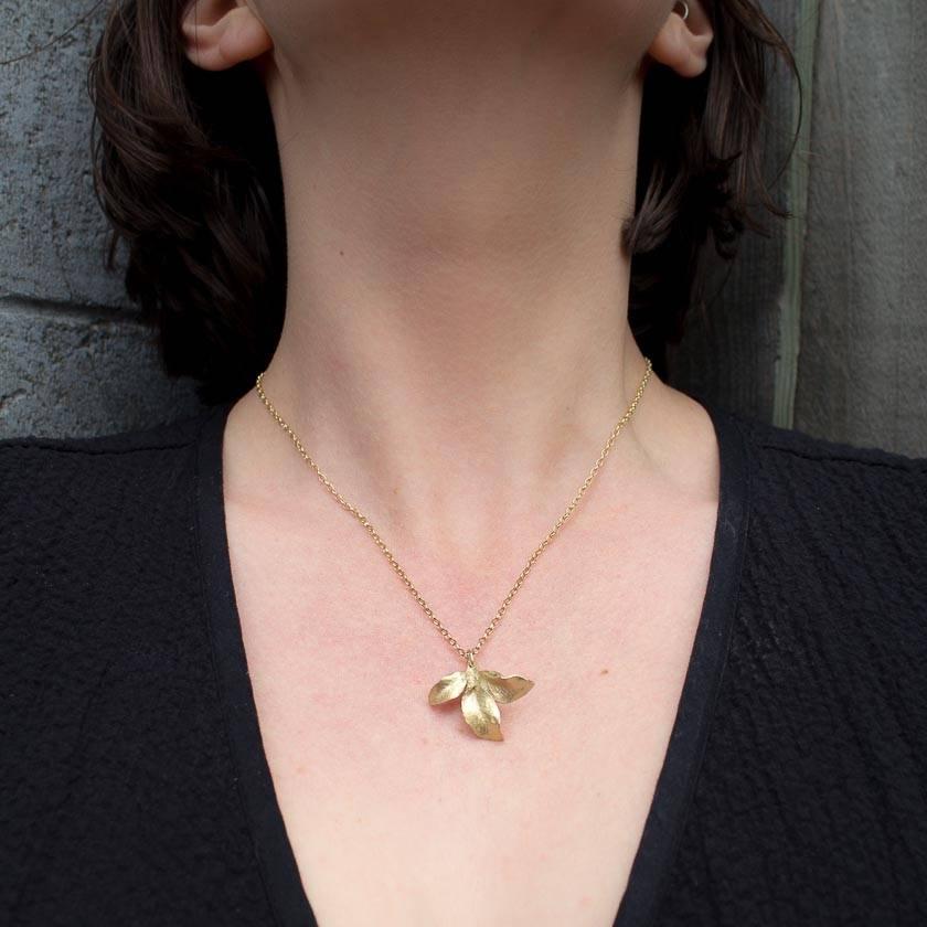 Waimea Leaf Pendant- 14ct gold plated